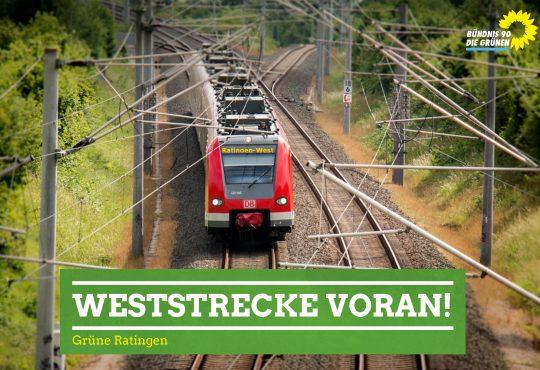Grüne Ratingen bringen die Ratinger Weststrecke für den Personenverkehr voran.
