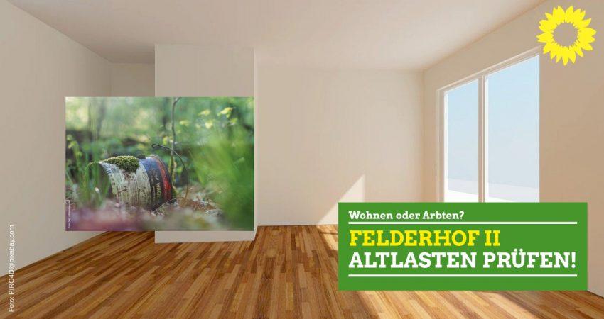 Altlasten im Baugebiet Felderhof II Ratingen prüfen!