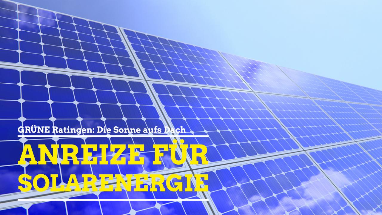 Grüne: Die Sonne aufs Dach – Anreize für Nutzung von Solarenergie schaffen