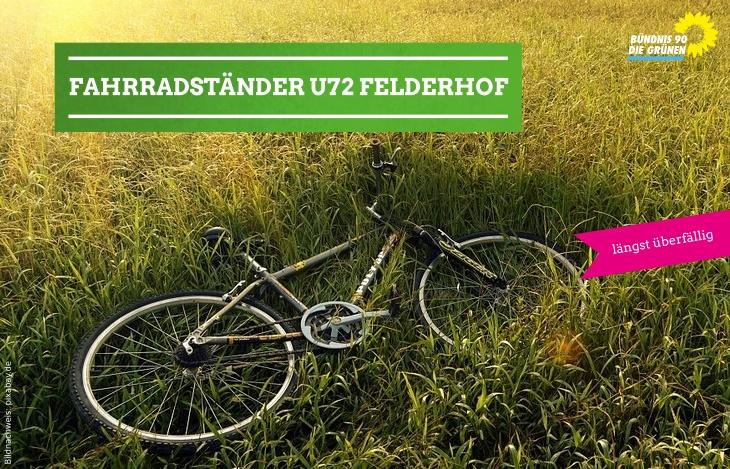 Fahrradständer für die Stadtbahnhaltestelle Ratingen-Felderhof gefordert