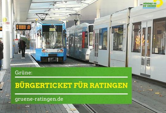 Grüne Ratingen setzen sich für ein Bürgerticket in Ratingen ein.